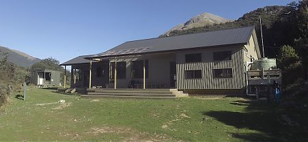 The old Mid Caples Hut has been replaced by the new Caples Hut. | Caples Hut, Caples Track