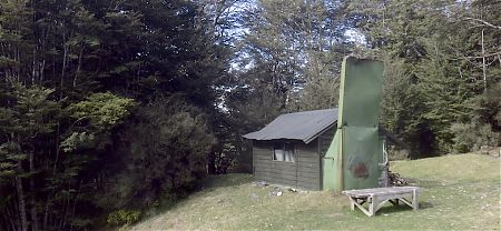 The cutest hut around, but there's no signage to tell you where it is, just a faint track.  | Slip Flat Hut, Greenstone Track