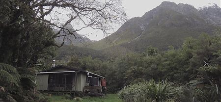On an island in a lake. Great setting.  | MacKerrow Island Hut, Hollyford Track