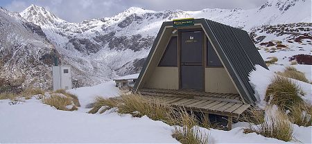 When the weather is bad, really bad, these shelters are useful for a break.  | Forest Burn shelter, Kepler Track
