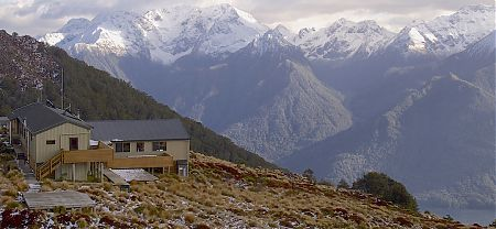 Great setting, hunh? | Luxmore Hut, Kepler Track