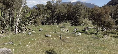 Looks as if this has been used quite a bit in the past. | Pyke River crossing campsite | Pyke - Big Bay Route