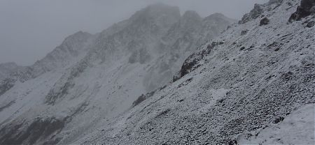 snow near Travers Saddle, Nelson Lakes National Park