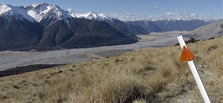 Day 4 and the view over my next few days walking, the Waimak and all beyond.  |  Arthurs Pass blog