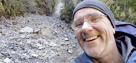 Day 6, joy after surviving coming down the scree slope, oh, and getting up as well.  |  Arthurs Pass blog