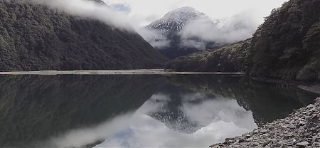 A surprise to be hit with the pure gorgeousness of Lake Minchin.  |  Arthurs Pass blog