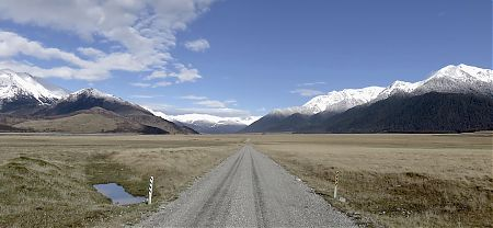 Day 15, it's a long trudge across the waimak valley floor to get to the highway. Nice though. | Arthurs Pass blog