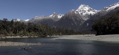 Wow, the Darran Range and the Hollyford River.  | Hollyford Track, Fiordland National Park