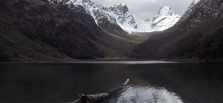 Emily Peak at the end of Lake Mackenzie. | Routeburn Track, Fiordland National Park