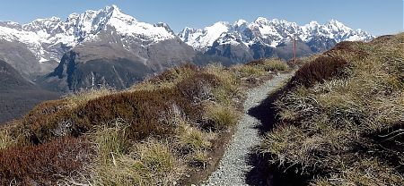 That's the Darren Range over the Hollyford valley. | Routeburn Track, Fiordland National Park