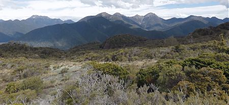 Just about the full 5 days tramping in view, Mt Fell, Richmond and ridges up and down, Mt Richmond Forest Park
