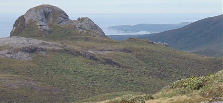 Lees Knob with Pearl Island beyond. | Tin Range, Stewart Island