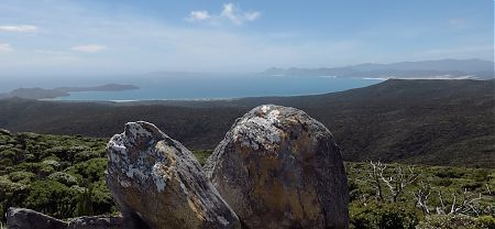 Marvelous view from Adams Hill looking north to Mason Bay. | Southern Circuit, Stewart Island