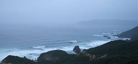 Hellfire Pass looking over to Codfish Island in the late afternoon gloom | Rakiura National Park, Stewart Island