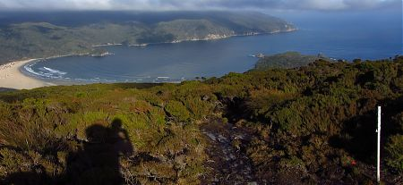 Doughboy Bay from Doughboy Hill, Southern Circuit, Stewart Island