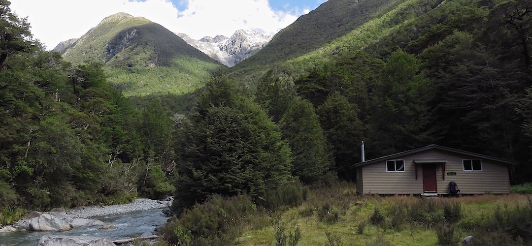 great setting beside the D'Urville River | George Lyon Hut, Nelson Lakes National Park