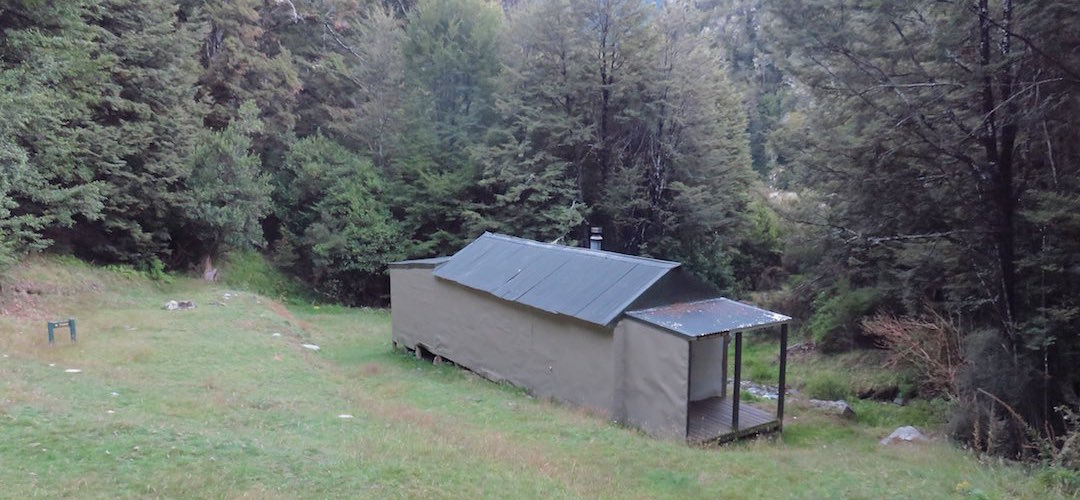 the hut isn't exactly adjacent to the lake   Lake Chalice Hut, Mt Richmond Forest Park