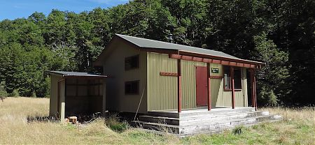 the new hut is real swish | Morgans Hut, Nelson Lakes National Park