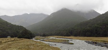 Ultra light-weight tramping  Mt Maling Stream in flood mode
