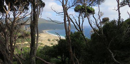 Smokey Bay from above, Stewart Island