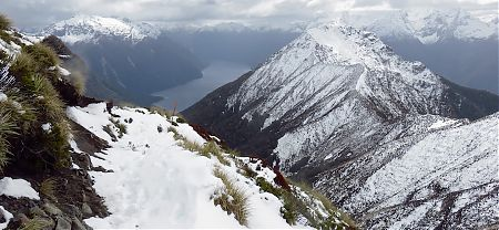 The mountains are steep here | Kepler Track avalanche zones, Fiordland National Park