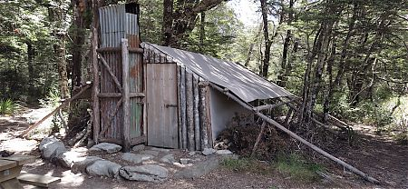 There used to be plenty of these for hunters, the canvas was relocatable. | Tent Camp, Kahurangi National Park
