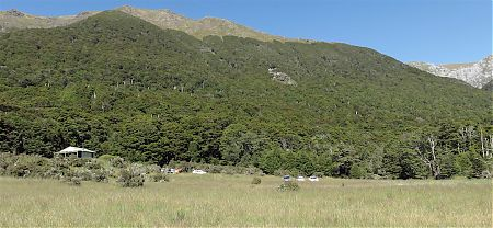 The hut is OK considering you can drive right to the back door.   Trilobite Hut, Kahurangi National Park