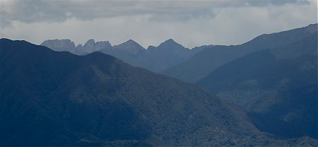 So that will be the Dragons Teeth up the Anatoki River valley. | from the Wainui Lookout, above Takaka