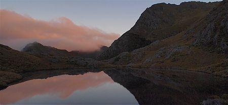 Sunrise at Adelaide Tarn. Real nice.   Kahurangi National Park