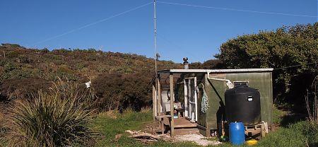 exterior Cavalier Hunter's hut, Mason Bay, Stewart Island