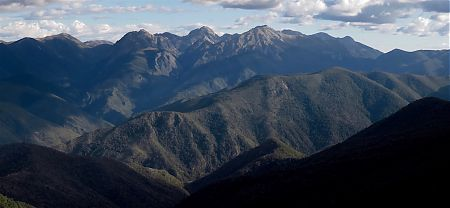 The famous Mt Owen, 1875m, featuring in Lord of the Rings, from John Reid Hut. | Kahurangi National Park