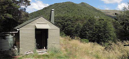 Kiwi Saddle Hut at, err, Kiwi Saddle. | Kahurangi National Park