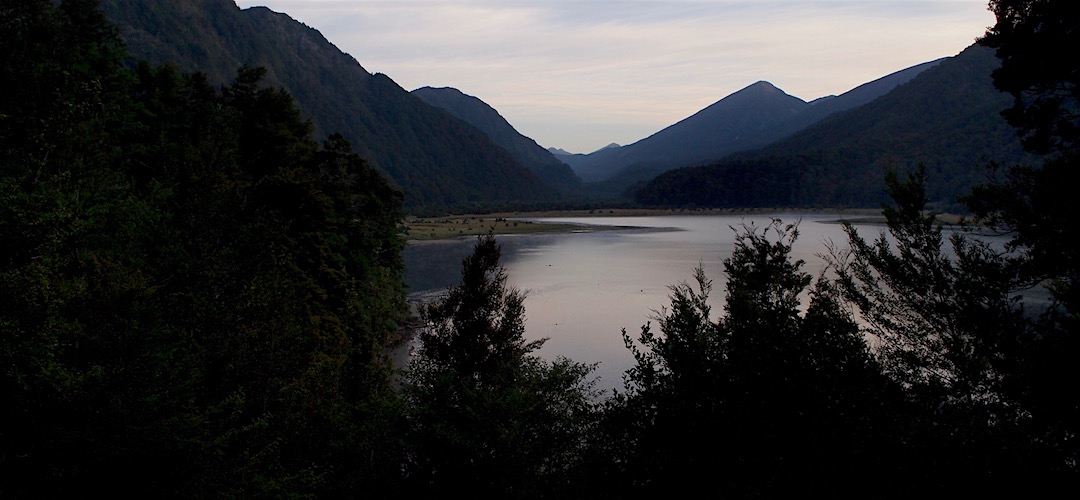 The early morning view from Lake Matiri Hut. | Matiri Ridge and Valley, Kahurangi National Park