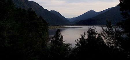 The early morning view from Lake Matiri Hut. | Matiri Ridge and Valley, Kahurangi National Park