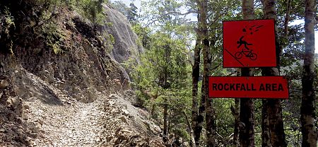 There's been plenty of hard work hacking across the Murchison earthquake slips. | Old Ghost Road