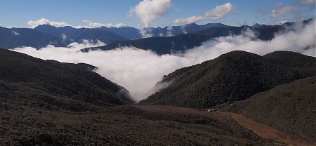Mount Perry and Perry Saddle Hut, Heaphy Track, Kahurangi National Park