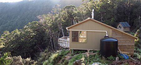 Yup, it's a big water tank. | Lyell Saddle Hut, Lyell Range/Radiant Range Conservation Area