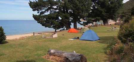 Mutton Cove campsite, Coastal Track, Abel Tasman National Park