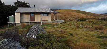 Sylvester Hut is fairly sheltered from the prevailing winds. | Sylvester Hut, Kahurangi National Park