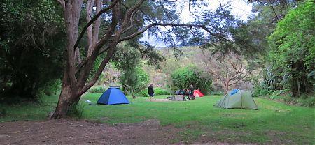 Waiharakeke campsite, Coastal Track, Abel Tasman National Park
