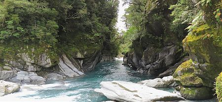 Gorgey bit of Toaroha River near Zit Stream. Gorgeous. |  Frew/Toaroha Saddles, Westland