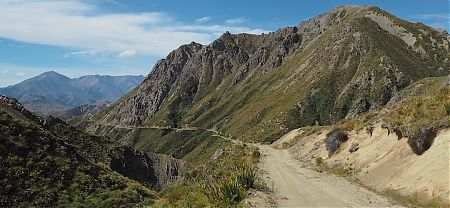 Over Blind Pass and down to the Clarence River.   Kaikoura to Boyle Village