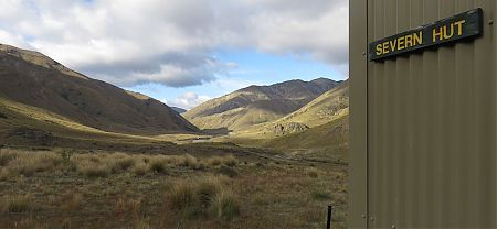 Leaving, umm, Severn Hut, with a 26 km day ahead.   Kaikoura to Boyle Village