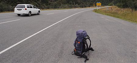 9 15 am and I'm already heading for home. After a 10 km start from Magdalen Hut.   Kaikoura to Boyle Village