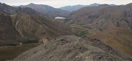 Lake McRae from near the top of Robinson Pass. | Kaikoura to Boyle Village