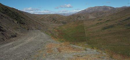 Saxton Saddle, or, was it Saxton Pass. There is both around.   Kaikoura to Boyle Village