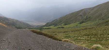 The rain started as I reached the top of Maling Pass, down to the Waiau | Kaikoura to Boyle Village