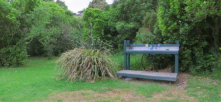 Whariwharangi Hut campsite, Coastal Track, Abel Tasman National Park