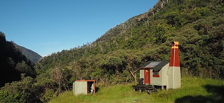 Great today, but may not get much sunlight, or visitors in winter. | Poet Hut, Mungo River, West Coast