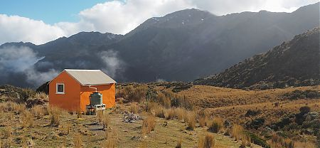 Looking over to Mt Reeves, Adventure Ridge and Zit Saddle. | Yeats Ridge Hut, Toaroha River, West Coast